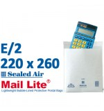 Mail Lite 220 x 260 wht bubbled lined E2 - Box of 100