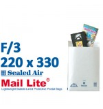 Mail Lite 220 x 330 wht bubble lined F3 - Box of 50