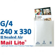 Mail Lite 240 x 330 wht bubbled lined G4 - Box of 50