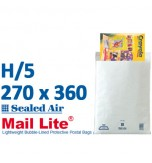 Mail Lite 270 x 360 wht bubbled lined H5 - Box of 50