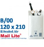 Mail Lite 120 x 210 white bubble lined B00 - Box of 100