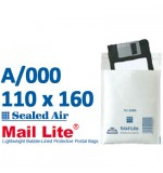 Mail Lite 100 x 160 wht bubble lined A000 - Box of 100