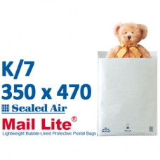 Mail Lite 350 x 470 wht bubbled lined K7 - Box of 50