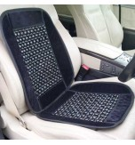 Wooden Bead Massaging Car / Van Seat Cover - Black