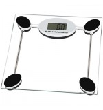 Pharmedics Digital Electronic Bathroom Scales - Max 180KG - Clear Glass