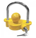 Tow Ball Hitch Lock - Yellow