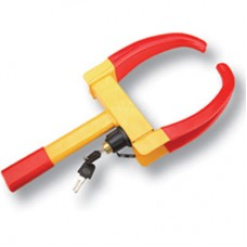 Wheel Clamp With Red Jaws
