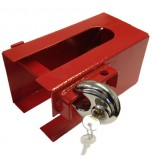 Hitch Lock - RED - Includes Pad Lock