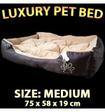 Deluxe Pet Bed - Medium (75 x 58 x 19cm)