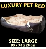 Deluxe Pet Bed - Large (90 x 70 x 20cm)