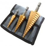 3 Piece High Speed Steel Step Drill Set (LARGE)