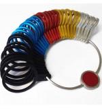 Finger Ring Gauge - Metal (multi-colour) - British Size A-Z+6