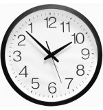 Extra Large Backwards Clock - White Face - Black Frame