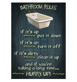 Sumbox Poster and Tube - Bathroom Rules