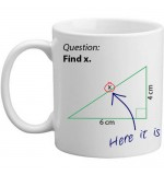 MUG - Find X - Maths Joke Gift Mug