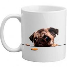 MUG - Cute Pug Dog Biscuit Mug