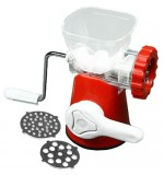 Plastic Meat Mincer - 2 Blades - Red