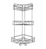 3 Tier Corner Shelves for Bathroom Shower Kitchen Caddy - Chrome