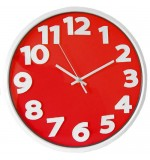 Athena - Big Number Wall Clock - Red