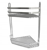 Vita Corner Shower Caddy Shelf Chrome - 2 Tier