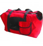 Canvas Pet Carrier - Red