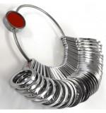 Finger Ring Gauge - Metal Steel (SILVER COLOUR) - British Size A-Z+6