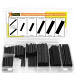 127 Piece Heat Shrink Wrap Sleeves Assortment - Black