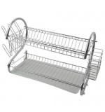 Chrome 2 Tier Dish Drainer