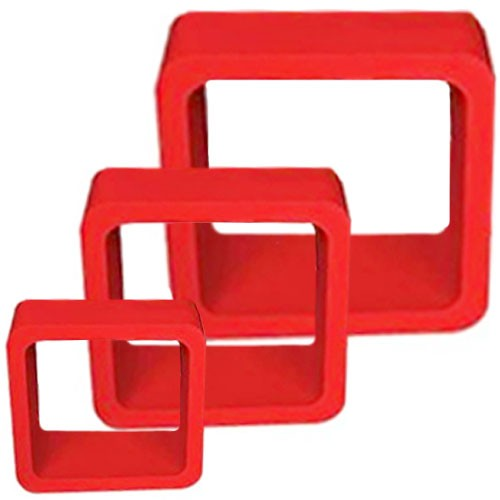 wall cube shelves round corners set of 3 red rh intotrade com Walmart Cube Shelves Floating Cube Shelves