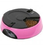 6 Meal - Automatic Pet Feeder - Pink