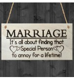 WOODEN PLAQUE - 200x100 - Marriage Special Person