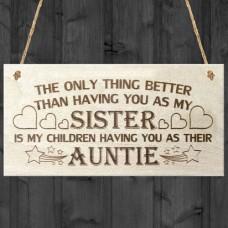 WOODEN PLAQUE - Children Auntie