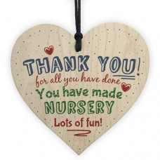 WOODEN HEART - 100mm - Thank You Nursery