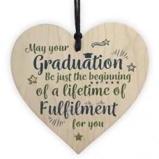 WOODEN HEART - 100mm - Graduation Life Of Fulfilment