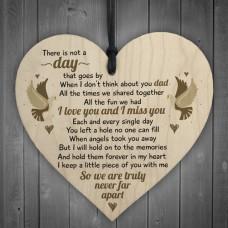 WOODEN HEART - 100mm - Dad Angels Took You Away