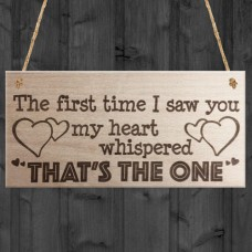 WOODEN PLAQUE - 200x100 - The First Time I Saw You