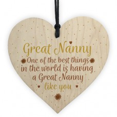 WOODEN HEART - 100mm - Great Nanny