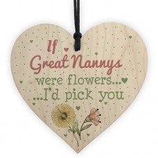 WOODEN HEART - 100mm - If Great Nannys were flowers