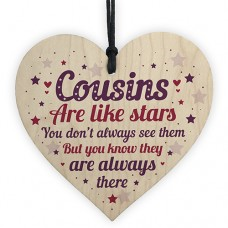 WOODEN HEART - 100mm - Cousins Are Like Stars