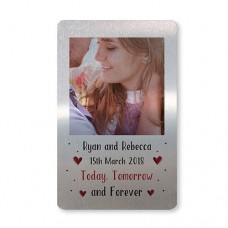 Metal Card - Silver - PERSONALISED Today Tomorrow Forever