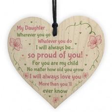 WOODEN HEART - 100mm - Daughter Wherever You Go
