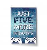 A4 Print - PS Five More Minutes Blue Futuristic