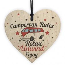 WOODEN HEART - 100mm - Campervan Rules