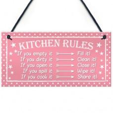 FOAM PLAQUE - 200X100 - Kitchen Rules Polka Dot