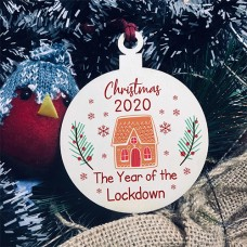 WOOD BAUBLE - Christmas Year Of The Lockdown Gingerbread House