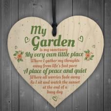 WOODEN HEART - 100mm - My Garden
