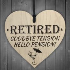 WOODEN HEART - 100mm - Retired Goodbye Tension
